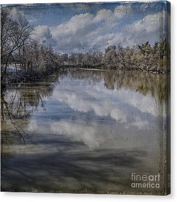 Boundary Channel Reflections Canvas Print by Terry Rowe