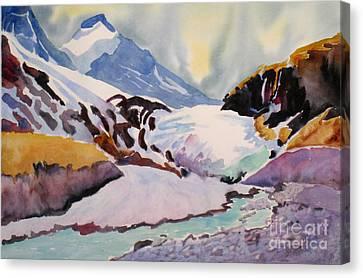 Boundary Glacier Banff And Jasper National Park Canvas Print by Mohamed Hirji
