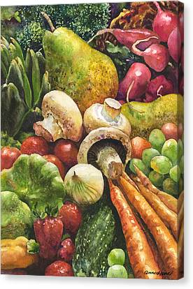 Bountiful Canvas Print by Anne Gifford