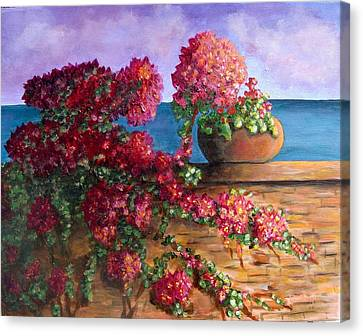 Bountiful Bougainvillea Canvas Print by Laurie Morgan