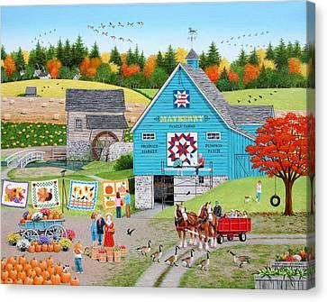 Bountiful Harvest Canvas Print by Wilfrido Limvalencia