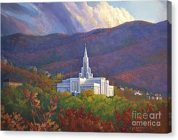 Bountiful Temple In The Mountains Canvas Print