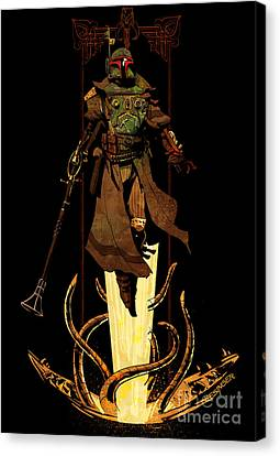 Bounty Hunter Rising Canvas Print by Brian Kesinger