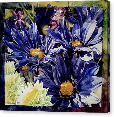 Canvas Print featuring the painting Bouquet Blues by Jeffrey S Perrine