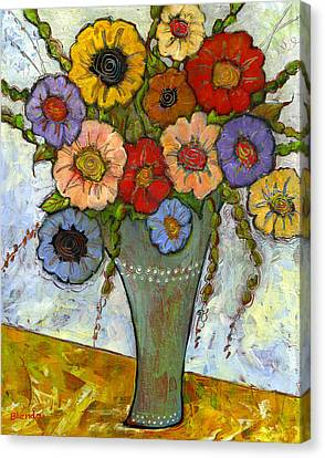 Blendastudio Canvas Print - Bouquet Of Flowers by Blenda Studio