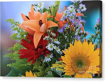 Canvas Print featuring the photograph Bouquet Of Flowers by Geraldine DeBoer