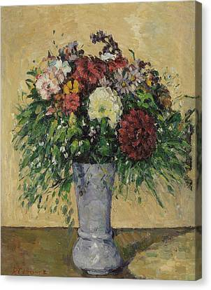 Bouquet Of Flowers In A Vase, C.1877 Oil On Canvas Canvas Print