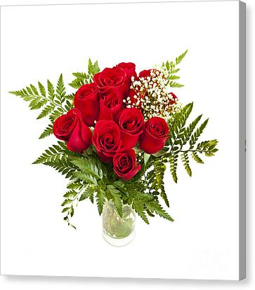 Bouquet Of Red Roses Canvas Print by Elena Elisseeva