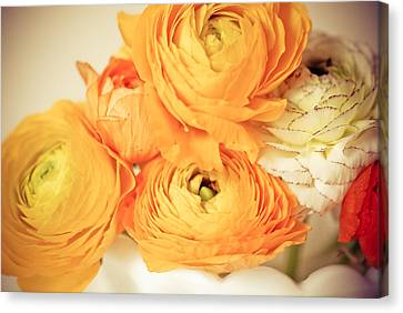 Bouquet Of Yellow Canvas Print by Olivia StClaire