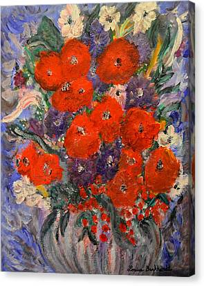 Bouquet Splash Canvas Print by Louise Burkhardt