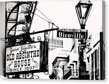 Bourbon And Bienville Canvas Print by Erin Johnson