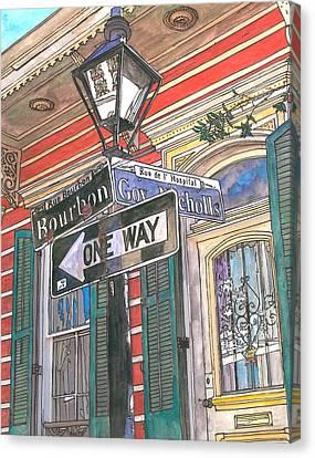 Bourbon And Nicholls Canvas Print by John Boles