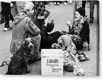 Bourbon St. Performers Canvas Print by John Rizzuto