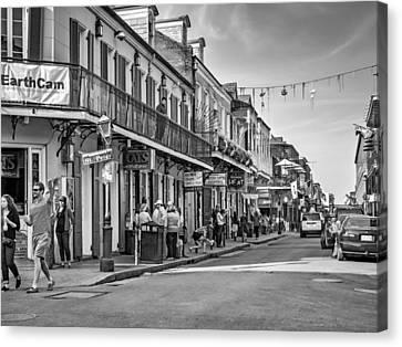 Bourbon Street Afternoon Bw Canvas Print