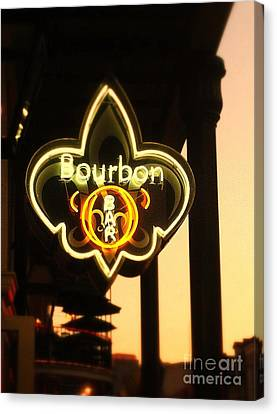 Bourbon Street Bar New Orleans Canvas Print by Saundra Myles