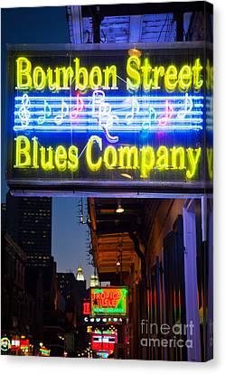 Bourbon Street Blues Company Canvas Print