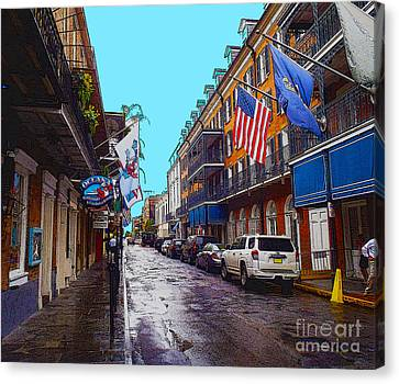 Bourbon Street Canvas Print by Carey Chen