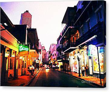 Bourbon Street Early Evening Canvas Print by John Malone