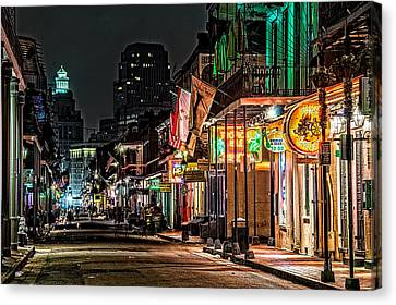 Bourbon Street Glow Canvas Print by Andy Crawford