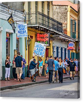 Bourbon Street - Let The Good Times Roll Canvas Print
