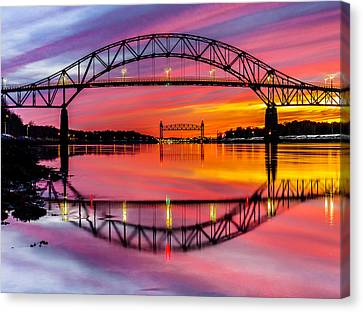Bourne Bridge Reflection Canvas Print
