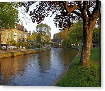 Bourton On The Water 3 Canvas Print by Ron Harpham