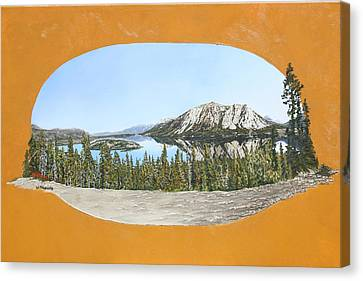 Canvas Print featuring the painting Bove Island Alaska by Wendy Shoults