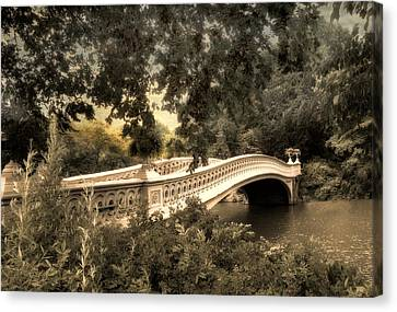 Bow Bridge At Dusk Canvas Print