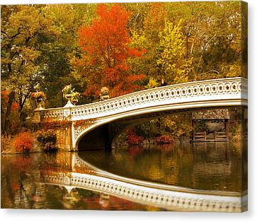 Canvas Print featuring the photograph Bow Bridge Beauty by Jessica Jenney