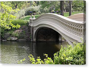 Bow Bridge Iv Canvas Print by Christiane Schulze Art And Photography