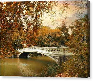 Bow Bridge October Canvas Print