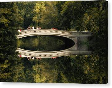 Bow Bridge Reflections Canvas Print by Jessica Jenney