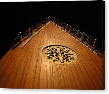 Canvas Print featuring the photograph Bowed Psaltery by Greg Simmons