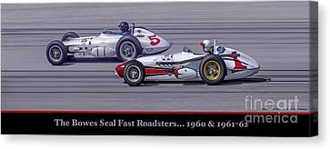 Canvas Print featuring the photograph Bowes Seal Fast Roadsters by Ed Dooley