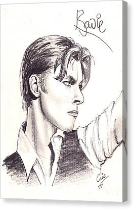 Bowie Canvas Print by Cristophers Dream Artistry
