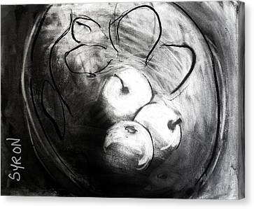 Canvas Print featuring the drawing Bowl by Helen Syron