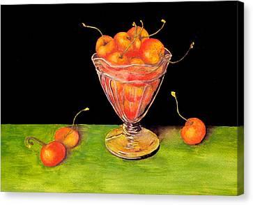 Bowl Of Cherries Canvas Print