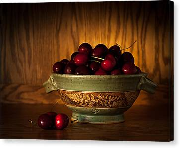 Canvas Print featuring the photograph Bowl Of Cherries by Wayne Meyer