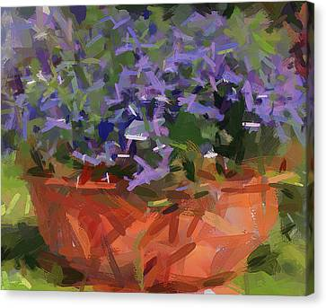 Bowl Of Flowers Canvas Print by Yury Malkov