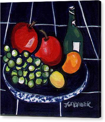 Canvas Print featuring the painting Bowl Of Fruit 1 by Joyce Gebauer