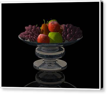 Bowl Of Fruit... Canvas Print