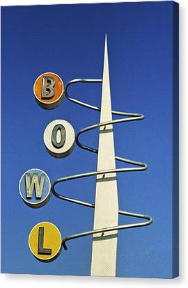 Bowl Sign Canvas Print by Matthew Bamberg