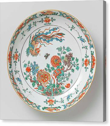 Bowl With Decoration Of Flowering Branches Canvas Print by Litz Collection