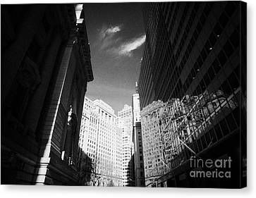 Bowling Green Broadway Financial Wall Street Area District Canyon New York City Canvas Print by Joe Fox