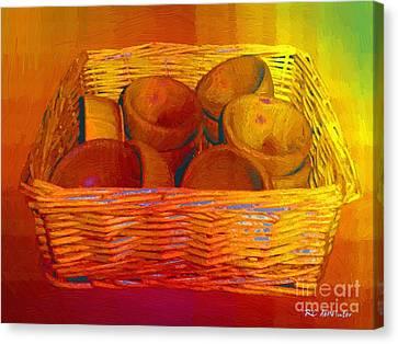 Bowls In Basket Moderne Canvas Print