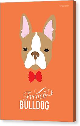 Bowtie Dogs Canvas Print by Popiko Shop