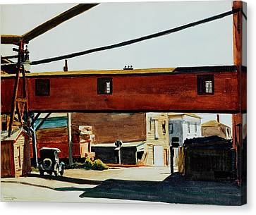 Box Factory Canvas Print by Edward Hopper