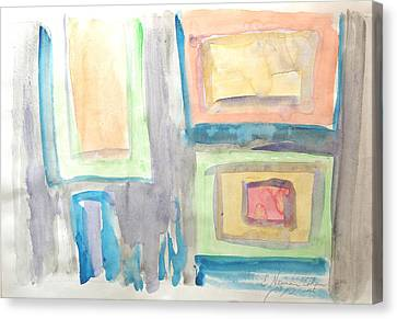 Canvas Print featuring the painting Box In Box by Esther Newman-Cohen