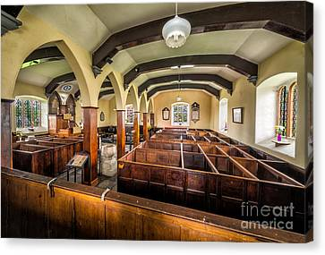 Box Pews Canvas Print by Adrian Evans