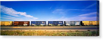 Boxcars Railroad Ca Canvas Print